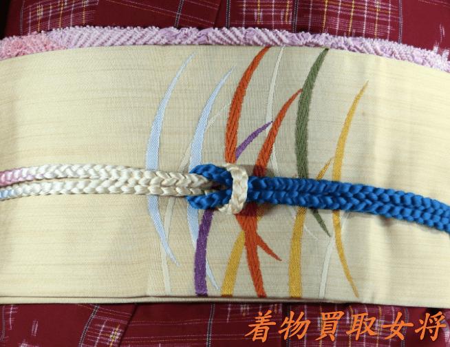 【帯合わせ】ウールの着物は半幅帯や名古屋帯を締めましょう