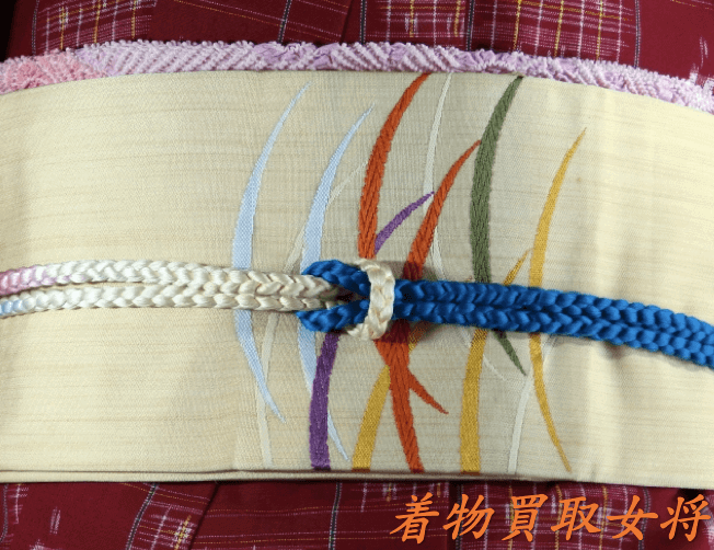 上布の着物には半幅帯や名古屋帯が合わせやすい