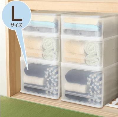 ニトリのプラスチック製衣類収納ケース