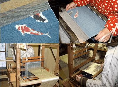 小千谷紬の織り