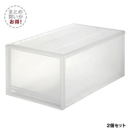 無印良品のプラスチック製衣類収納ケース