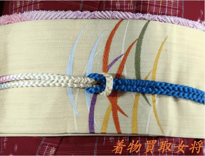 宮古上布に合う帯